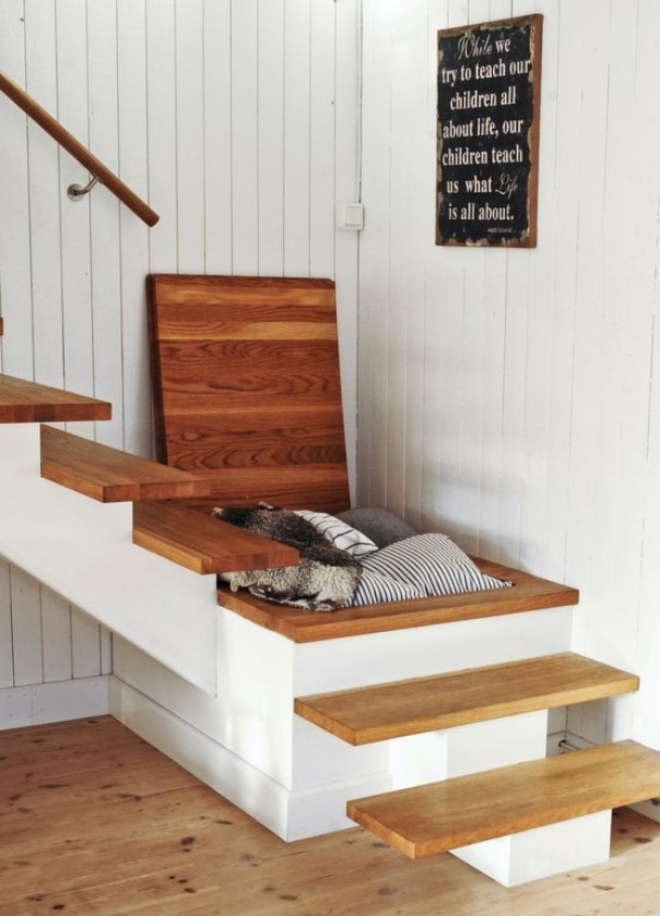 Super stair storage from Leva & Bo