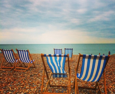 Deck chairs in Brighton