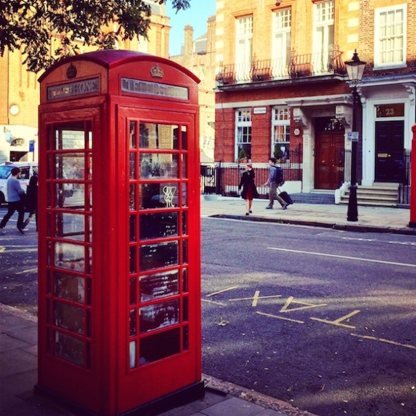 An old London phone box by Lincoln Fields