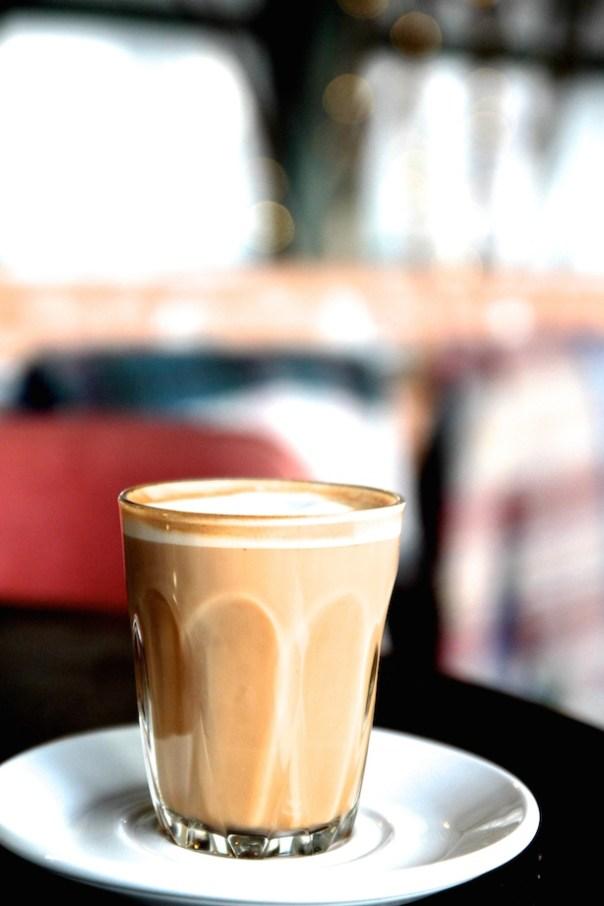 Delicious latte at Le Chalet, Selfridges