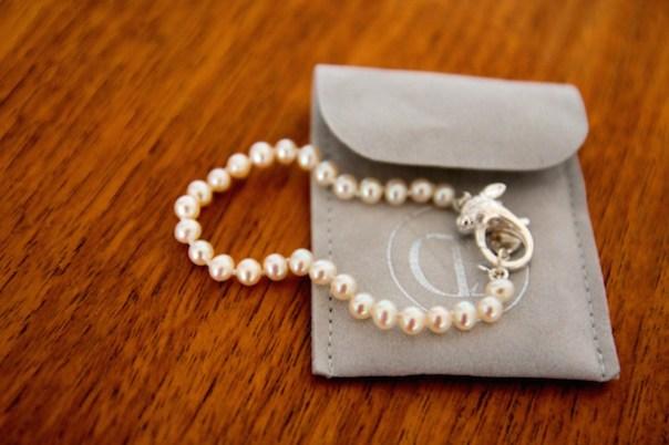 Claudia Bradby Alice in Wonderland pearl bracelet