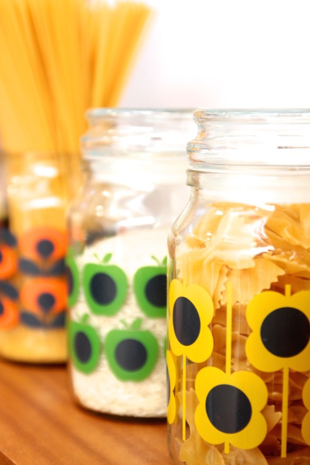 Pasta in Orla Kiely Jars for Douwe Egberts