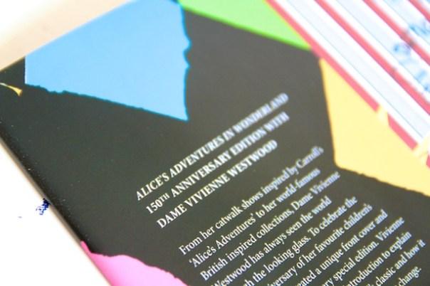 Back of the book - Vivienne Westwood's Alice in Wonderland