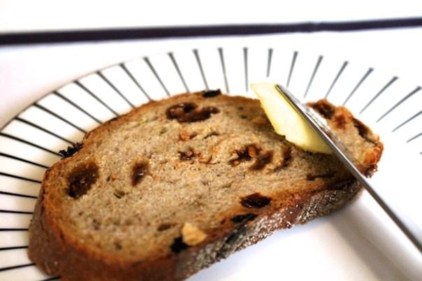 Raisin bread and butter