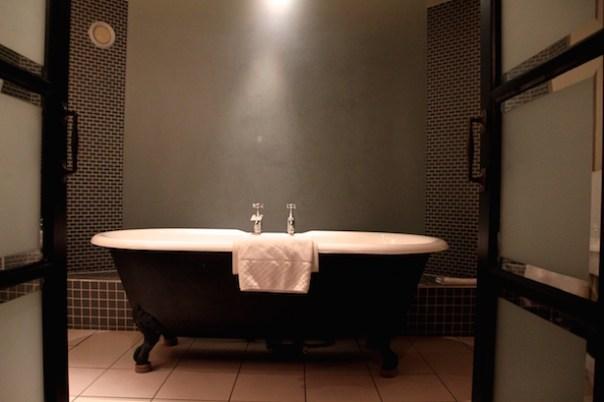 Roll top bath in Hotel du Vin