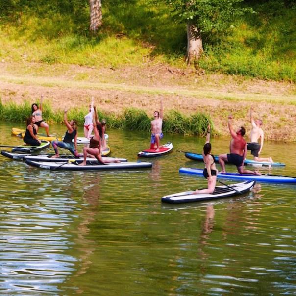 Yoga on a paddleboard. Yep. That's what I said.