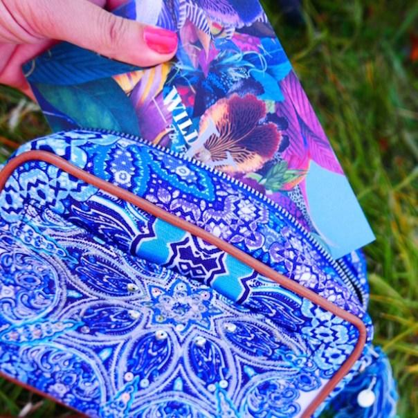 Ombre Tile Paisley Across Body Bag