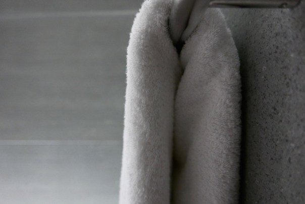 White towels hanging
