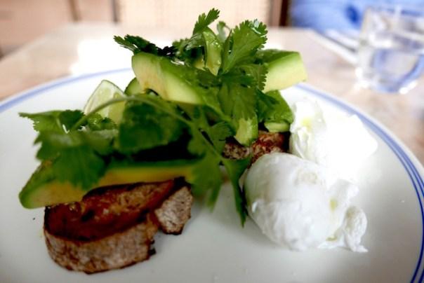 Poached eggs & avocado on sourdough