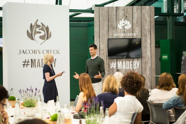 Jacob's Creek Our Table event at Wimbledon with Novak Djokovic Thursday 23rd June 2016.