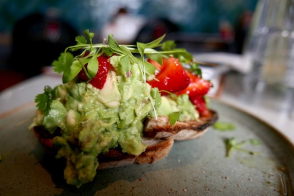 Avocado on toast at Farm Girl Café