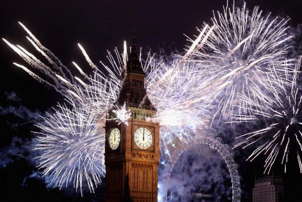 Fireworks in London 2016