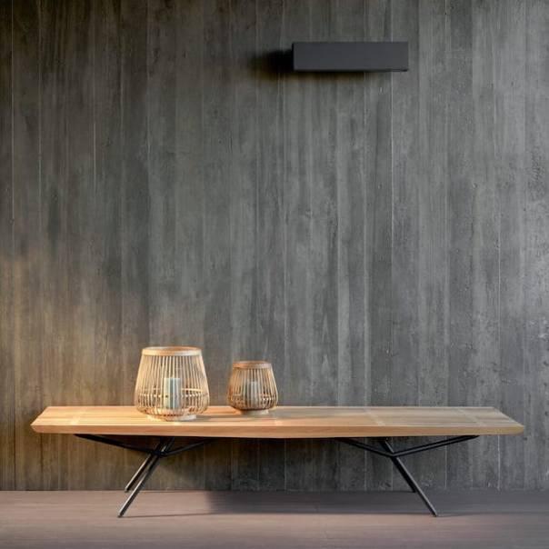 Contemporary Outdoor Designer Wooden Bench