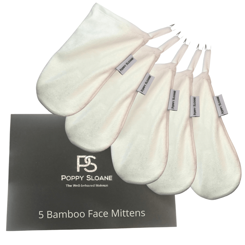 Poppy Sloane Bamboo Cleansing Mitten (Set of 5)