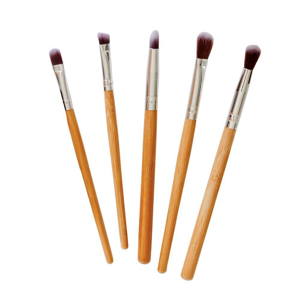 Poppy Sloane Luxury Bamboo 5 Piece Detail Brush Set