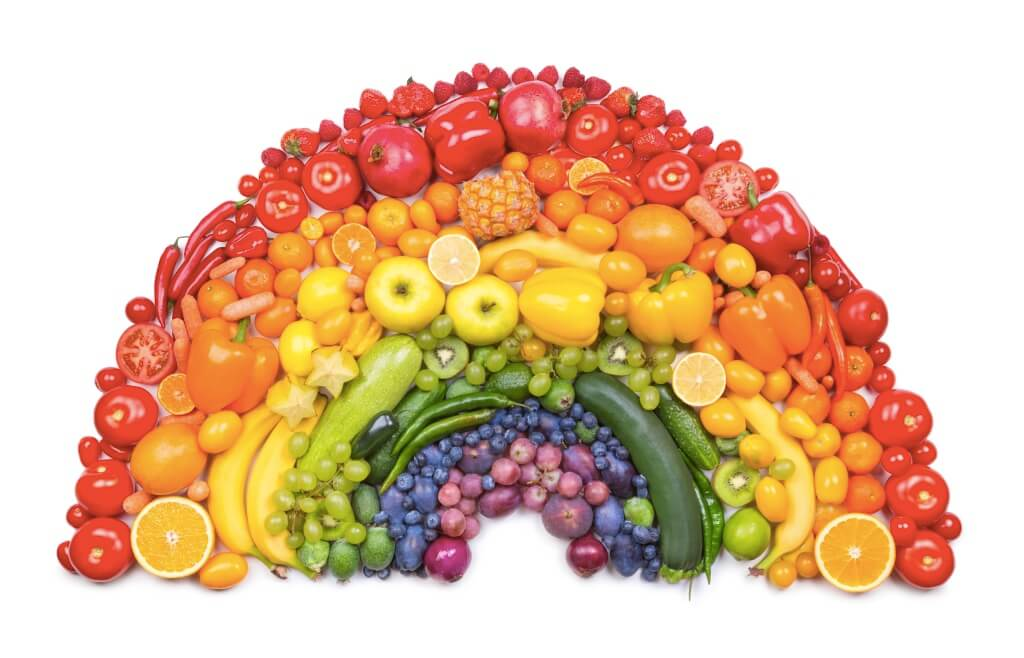 A Rainbow Arrangement of Different Vegetables