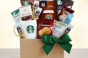 Starbucks Coffee and Tea Basket