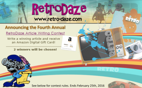 Retro-Daze Fourth Annual Article Writing Contest