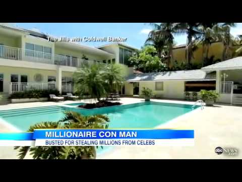 ABC News image of millionaire con man busted for stealing millions from celebrities in Miami