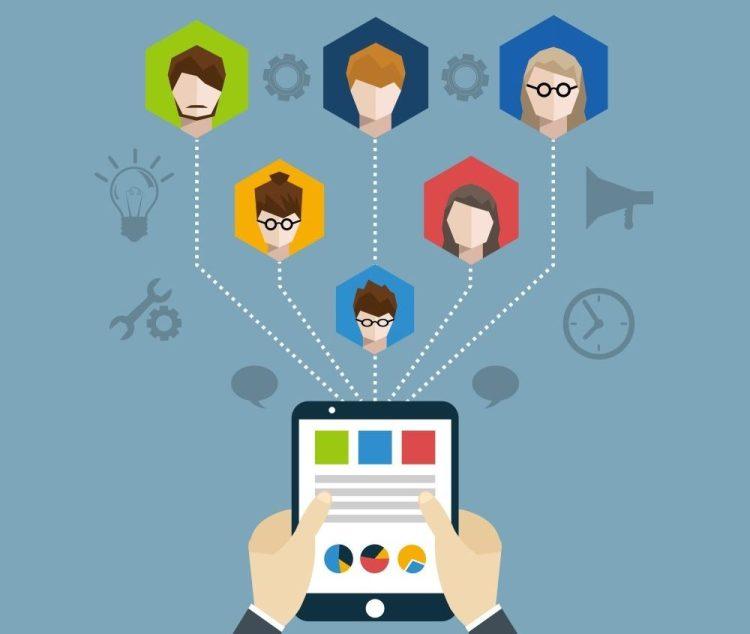 Remote team meeting Illustration