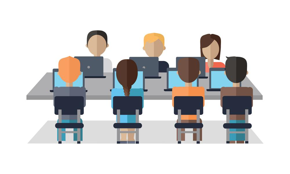 group of employees onboarding