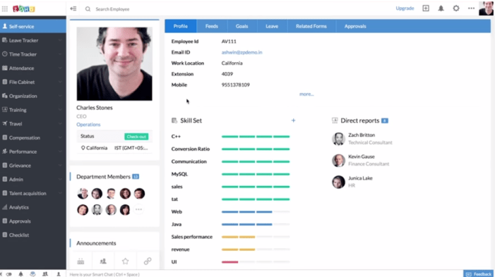 zoho people hr tech software