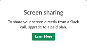 screen sharing slack