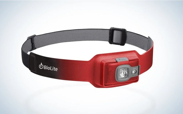 red and black biolite headlamp