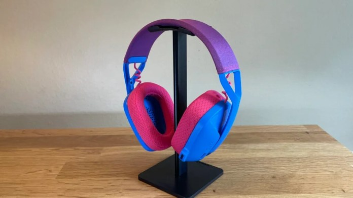 G435 Wireless Gaming Headset on stand