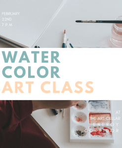 water color art class houston adult painting pop shop america