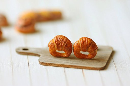 Croissant Stud Earrings 4 | Food Jewelry