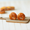 Croissant Stud Earrings Handmade Realistic Food Jewelry | Stud Earrings Available at Pop Shop America