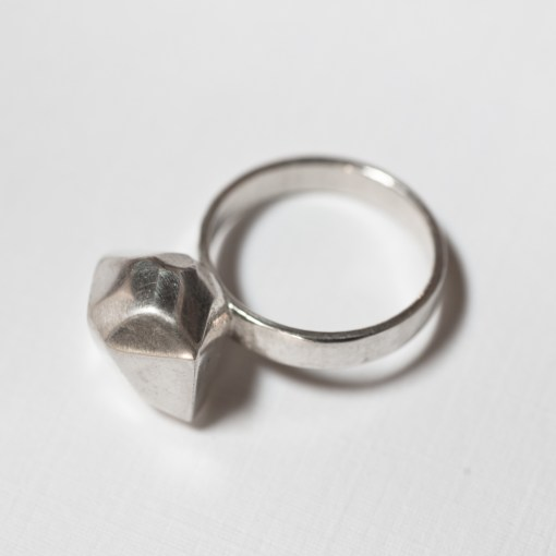 3D Printed Ring | Sterling Silver Ring | Geometric Rock Ring | Made in NYC