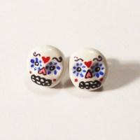 Sugar Skull Stud Earrings - Pop Shop America