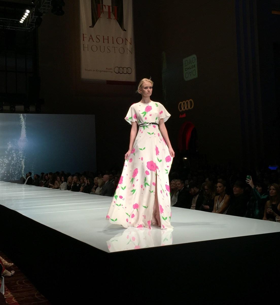 Chloe Dao at Fashion Houston 2014 | Wortham Center | Dresses by Chloe Dao Houston Fashion Designer