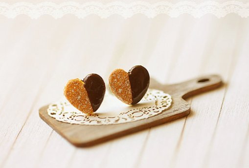 Heart Cookie Earrings Cute Jewelry at Pop Shop America Online Shopping Website   Unique Handmade Jewelry