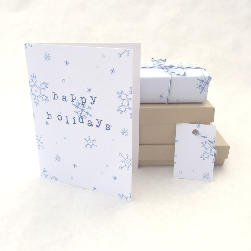Free Snowflake Printable | Free Printable that Can be Made into Holiday Gift Tags, Wrapping Paper, and Greeting Cards | Homemade Christmas Gifts from the Pop Shop America Blog