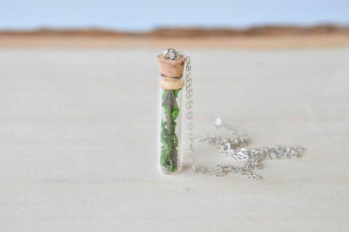 Terrarium Necklace with Cupid Arrow Handmade Jewelry
