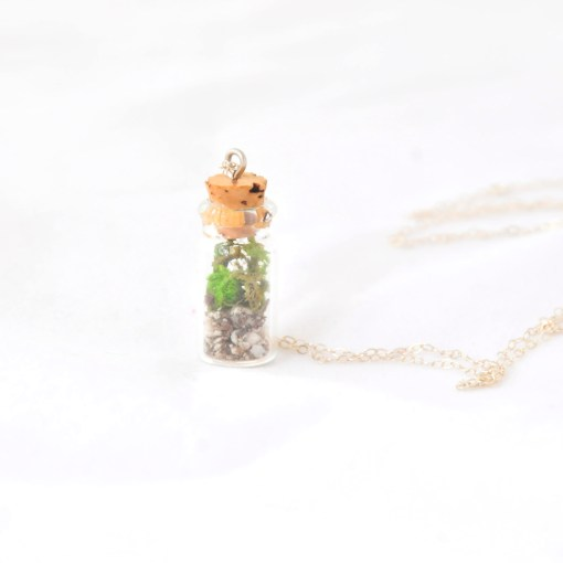 Terrarium Necklace Handcrafted Jewelry Sterling Silver Necklace