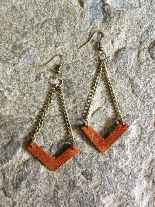 DIY leather earrings craft class menu of art classes by pop shop america handmade boutique
