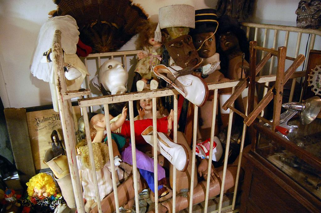 Creepy Dolls   Vintage Medical Equipment   Taxidermy Houston at the Place Upstairs Oddities Shop