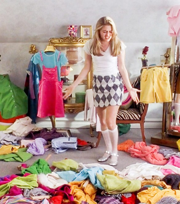 Clueless Room Full of Clothes | Clueless Movie Stills