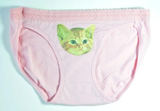 Orange Tabby Cat Underwear - Kitten Panties Cat Underwear Handmade at Pop Shop America