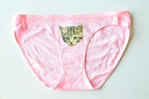 Pink Tabby Cat Underwear Cat Underwear by Pop Shop America