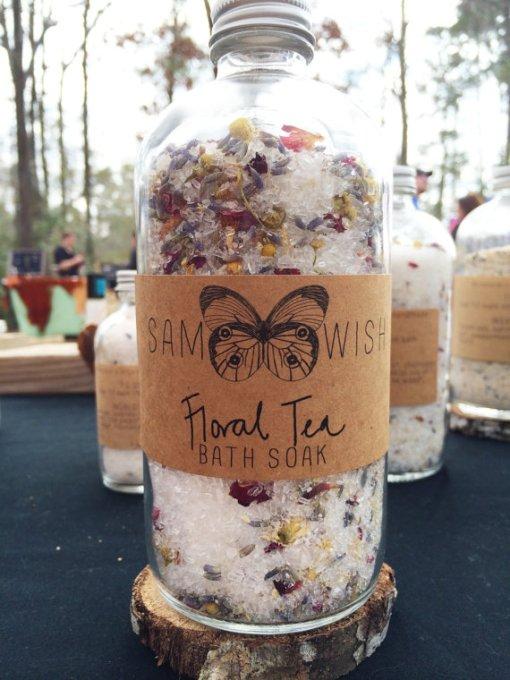 Floral Tea Bath Soak by Sam Wish Botanicals Handmade Beauty Products