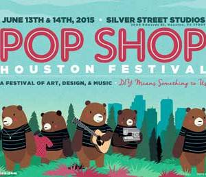 Pop Shop Houston Festival - Craft Show Poster