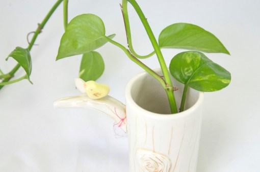 Detail of Tree Vase Ceramic Vases Indoor - Cute Planters