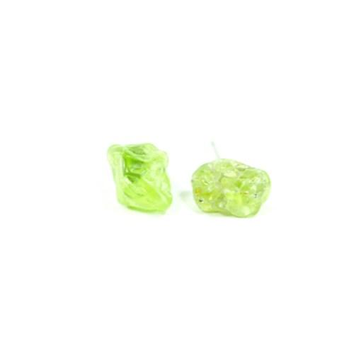 Peridot Stud Earrings Handmade by Potions