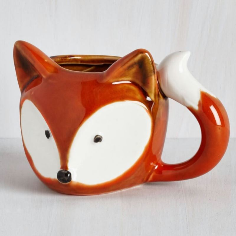 fox mug animal ceramics from modcloth cute mugs for fall