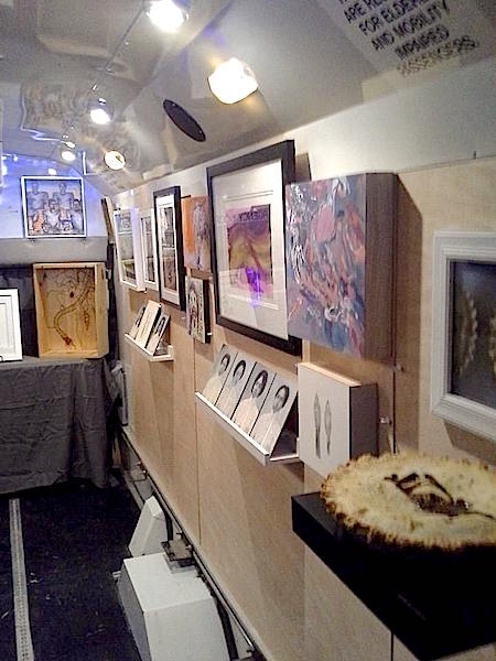 Inside of Dormalou Project   Dourmalou Mobile Art Gallery Houston   Chasity Porter Art   Artists in Texas from the Pop Shop America Art Blog